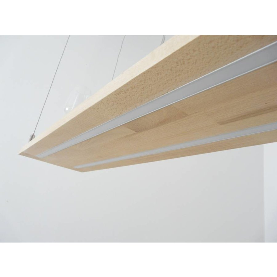 Hängeleuchte Holz Buche Doppel Led Zeile-7