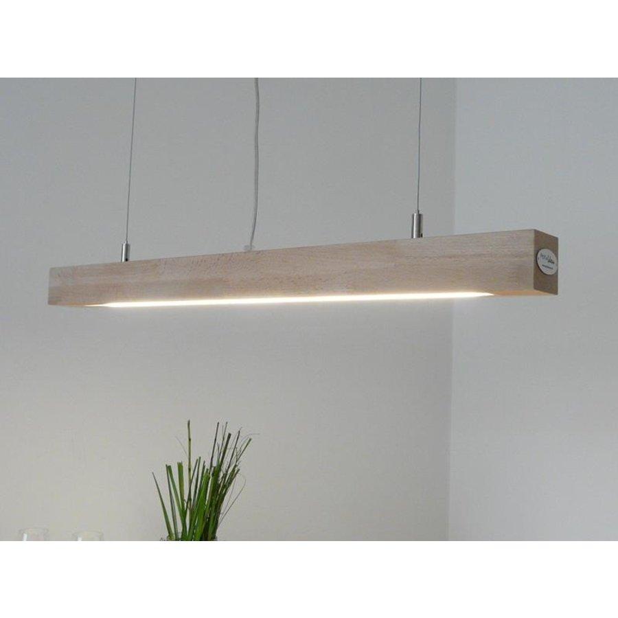 LED Hängelampe Holz  Buche Ober- Unerlicht-3