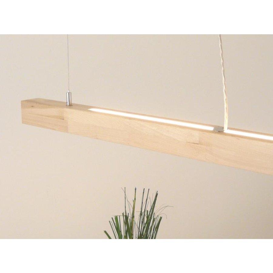 LED Hängelampe Holz  Buche Ober- Unerlicht-1