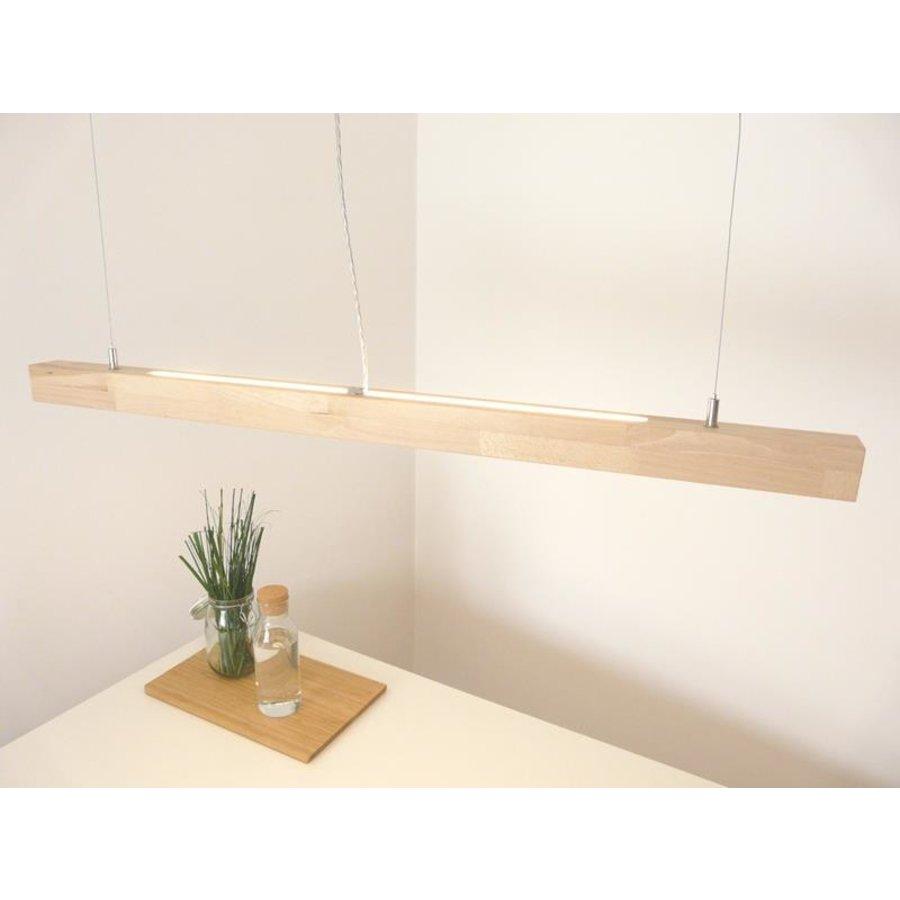 LED Hängelampe Holz  Buche Ober- Unerlicht-4