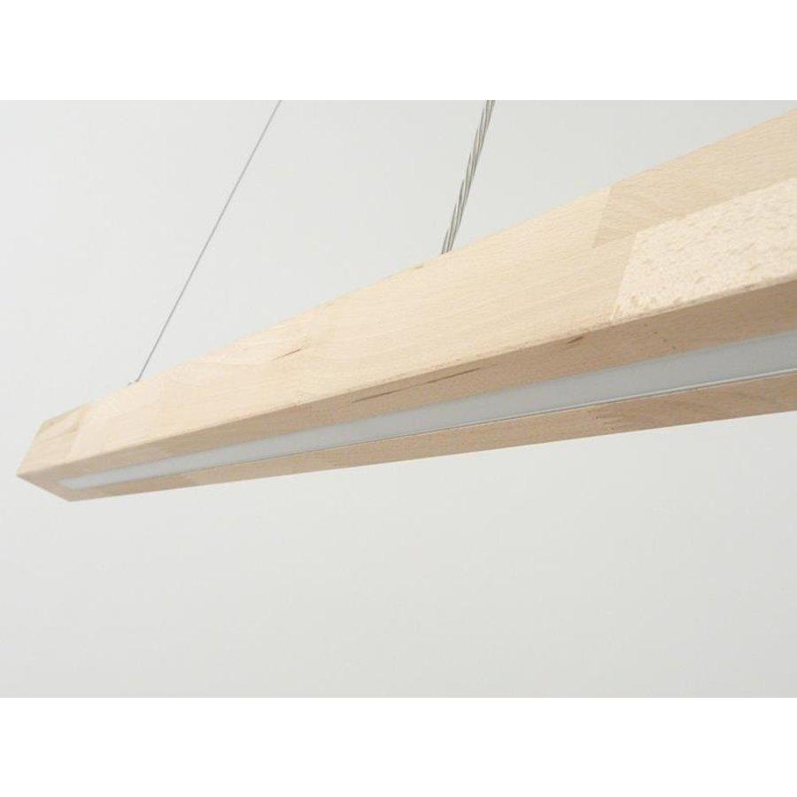 LED Hängelampe Holz  Buche Ober- Unerlicht-2