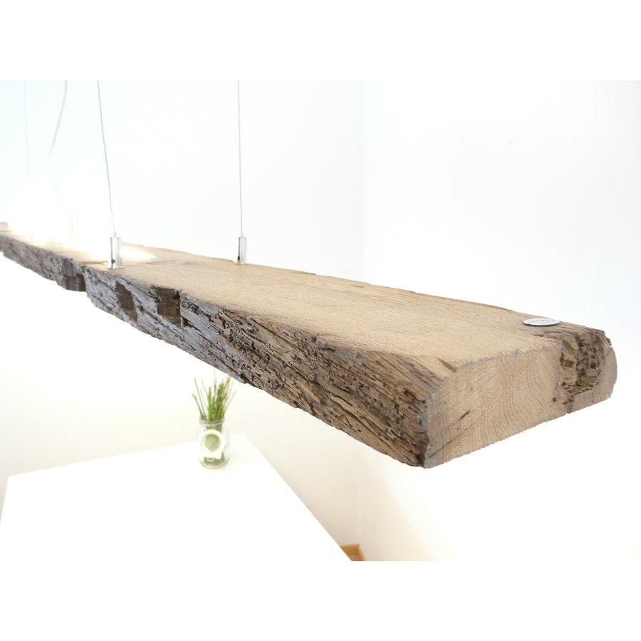 XL LED Lampe Hängeleuchte Holz Eiche Balkenlampe-4