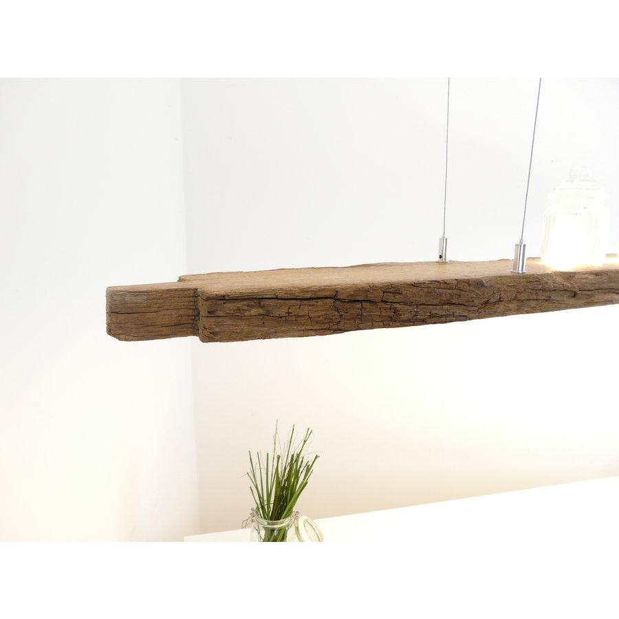 XL LED Lampe Hängeleuchte Holz Eiche Balkenlampe-5