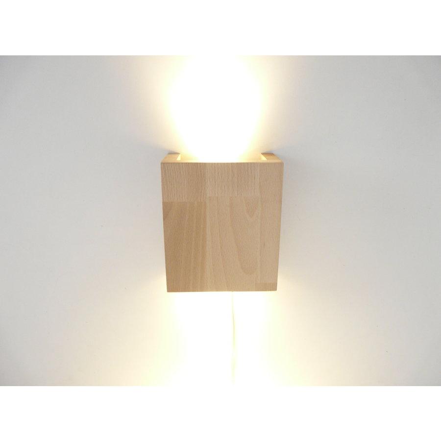 Wandleuchte Holz Buche-1