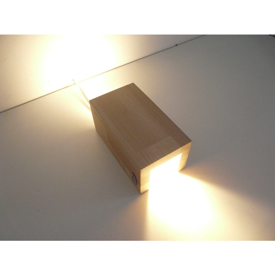 Wandleuchte Holz Buche-4