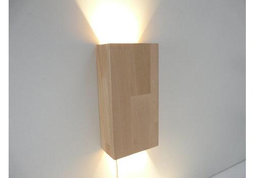 Led Wandleuchte Holz Buche