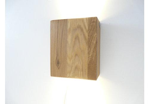 Led Wandleuchte Holz Eiche geölt