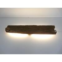 thumb-Led Wandlampe aus antiken Holz-4