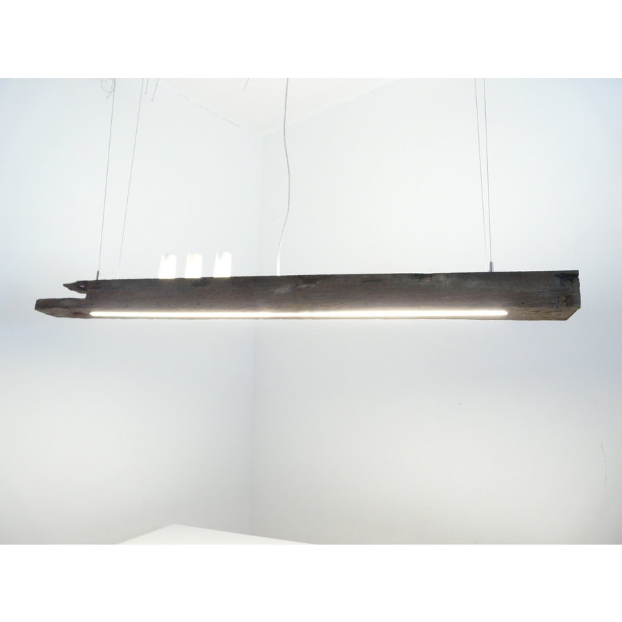 LED Lampe Hängeleuchte Holz antik Balkenleuchte-3