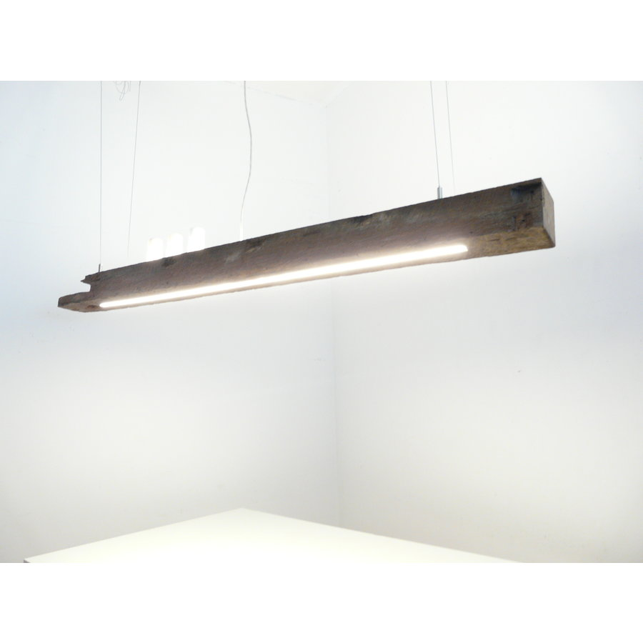 LED Lampe Hängeleuchte Holz antik Balkenleuchte-5