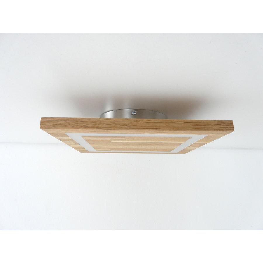 LED Deckenleuchte Holz Buche  39 x 39 cm   mit indirektem Licht-2