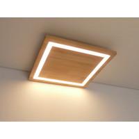 thumb-LED Deckenleuchte Holz Buche  39 x 39 cm   mit indirektem Licht-3