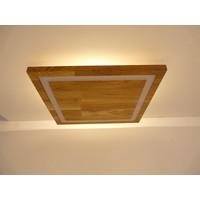 thumb-LED Deckenleuchte Holz Buche  39 x 39 cm   mit indirektem Licht-4