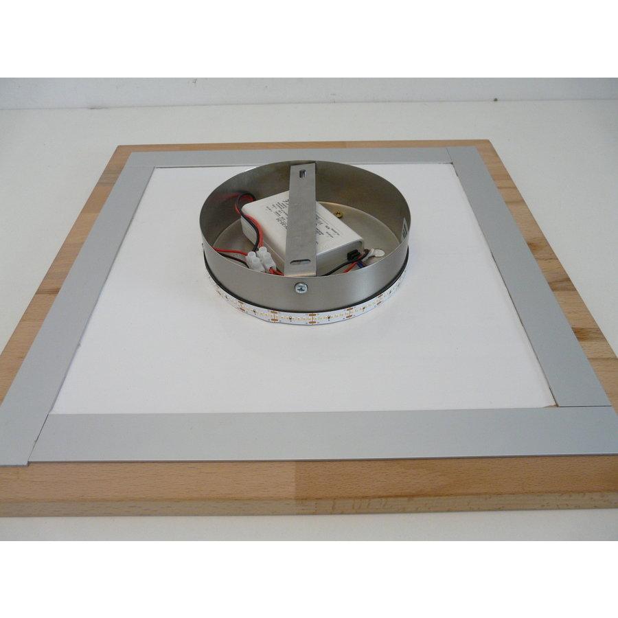 LED Deckenleuchte Holz Buche  39 x 39 cm   mit indirektem Licht-5