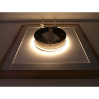 thumb-LED Deckenleuchte Holz Buche  39 x 39 cm   mit indirektem Licht-6