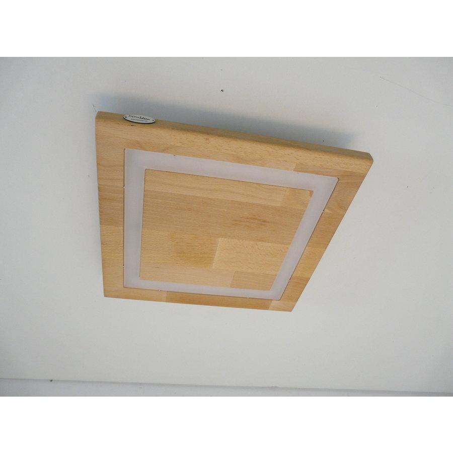 LED Deckenleuchte Holz Buche  39 x 39 cm   mit indirektem Licht-7