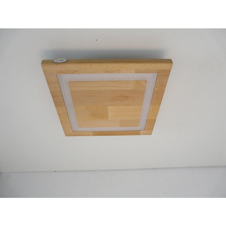 LED Deckenleuchte Holz Buche  39 x 39 cm   mit indirektem Licht-8