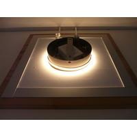 thumb-LED Deckenleuchte Holz Buche  20 x 20 cm   mit indirektem Licht-5