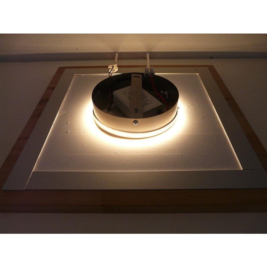 LED Deckenleuchte Holz Buche  20 x 20 cm   mit indirektem Licht-5