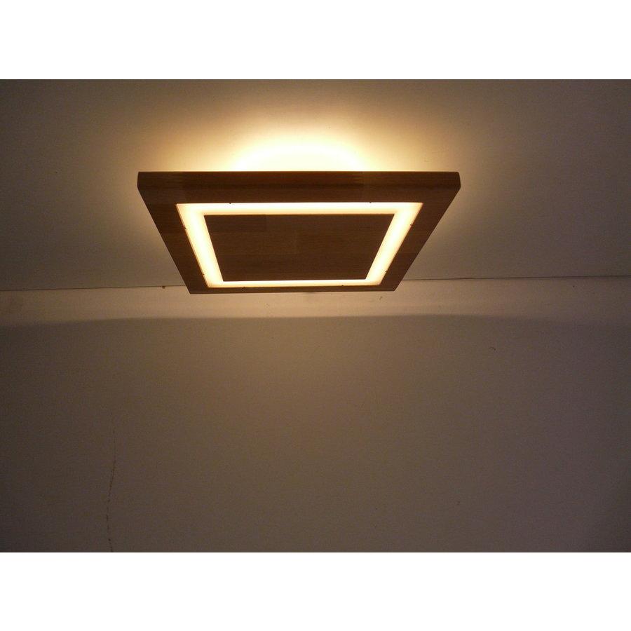LED Deckenleuchte Holz Akazie  20 x 20 cm   mit indirektem Licht-3