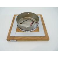 thumb-LED Deckenleuchte Holz Akazie  20 x 20 cm   mit indirektem Licht-6
