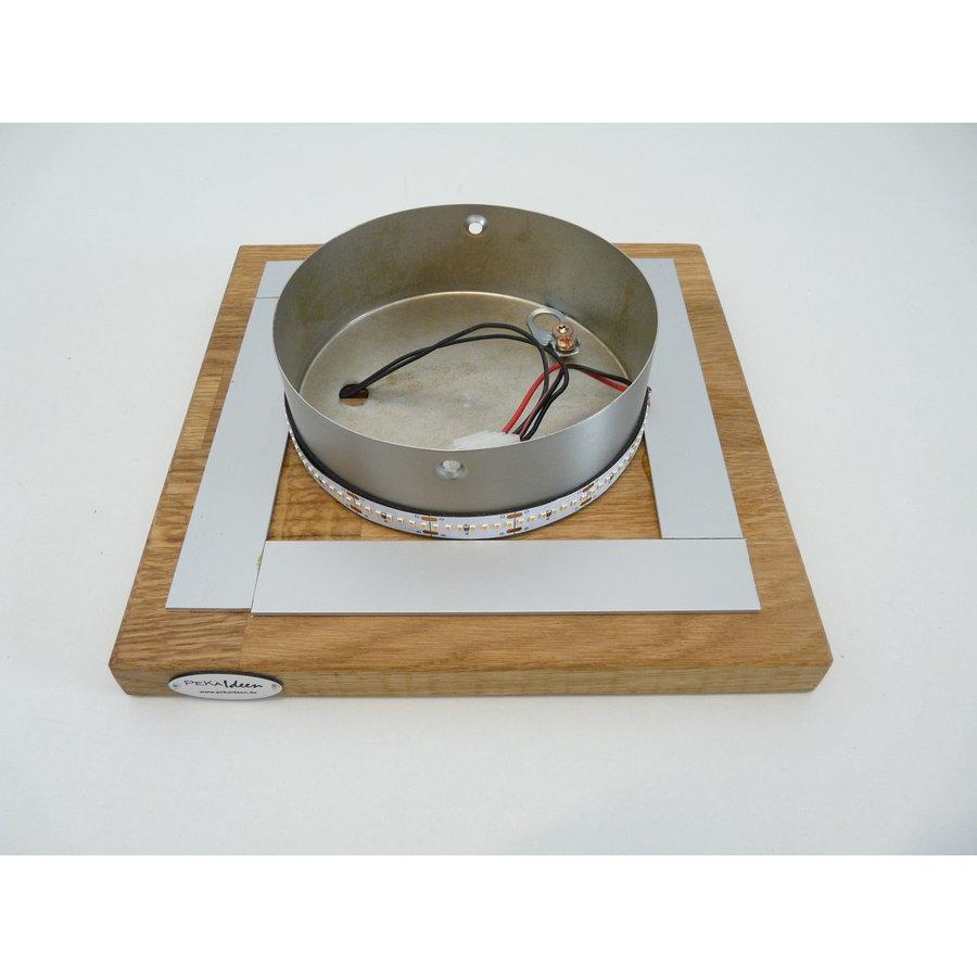 LED Deckenleuchte Holz Akazie  20 x 20 cm   mit indirektem Licht-6
