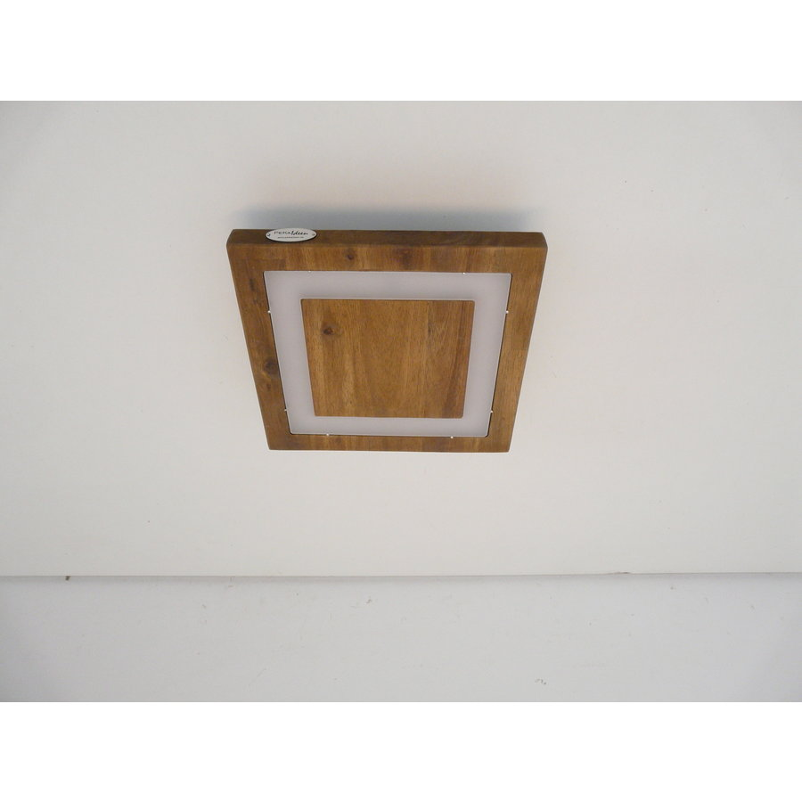 LED Deckenleuchte Holz Akazie  20 x 20 cm   mit indirektem Licht-7