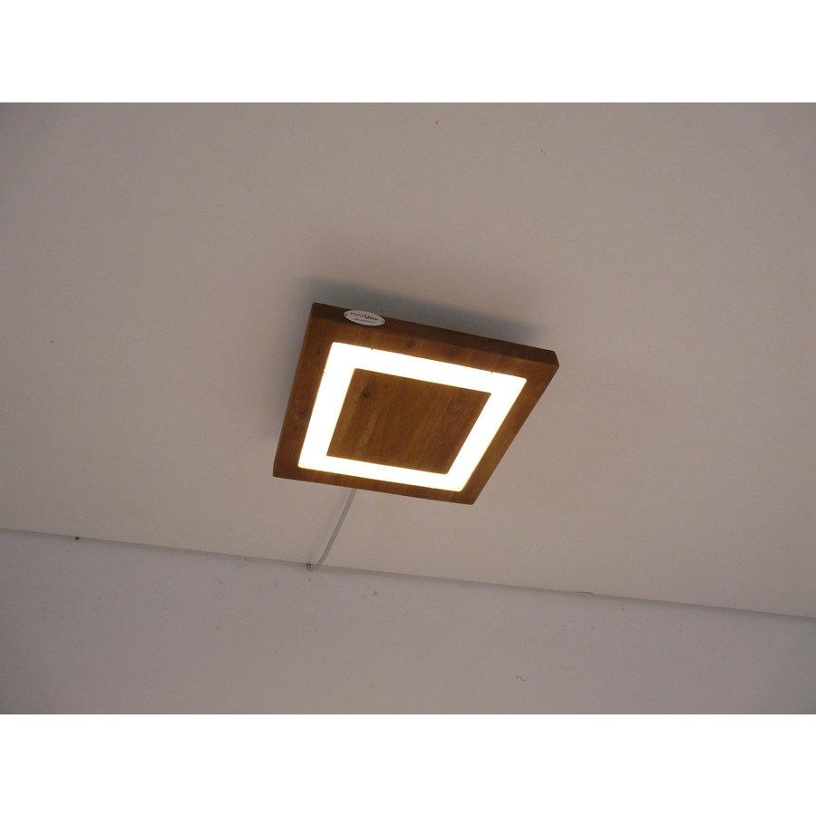 LED Deckenleuchte Holz Akazie  20 x 20 cm   mit indirektem Licht-5