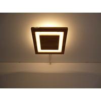 thumb-LED Deckenleuchte Holz Akazie  20 x 20 cm   mit indirektem Licht-2