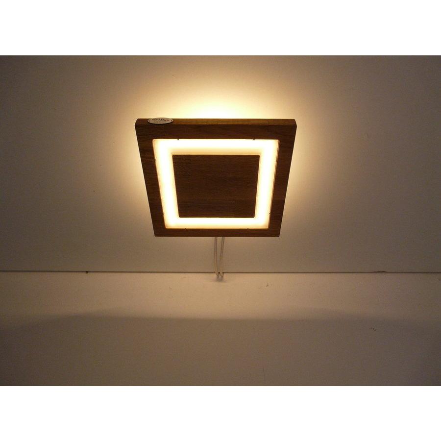 LED Deckenleuchte Holz Akazie  20 x 20 cm   mit indirektem Licht-2