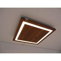 thumb-LED Deckenleuchte Holz Akazie  39 x 39 cm-2