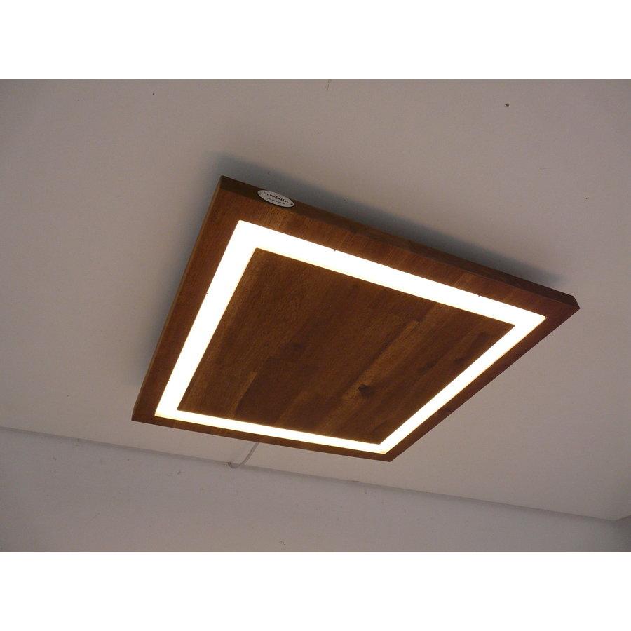 LED Deckenleuchte Holz Akazie  39 x 39 cm-2