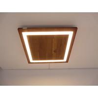 thumb-LED Deckenleuchte Holz Akazie  39 x 39 cm-1