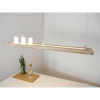 thumb-Hängelampe Holz Buche 80 cm Ober Unterlicht-1
