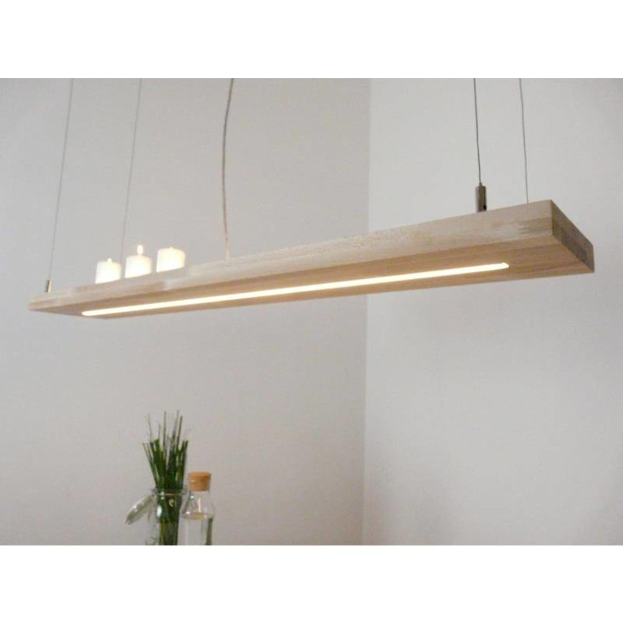 Hängelampe Holz Buche 80 cm Ober Unterlicht-4