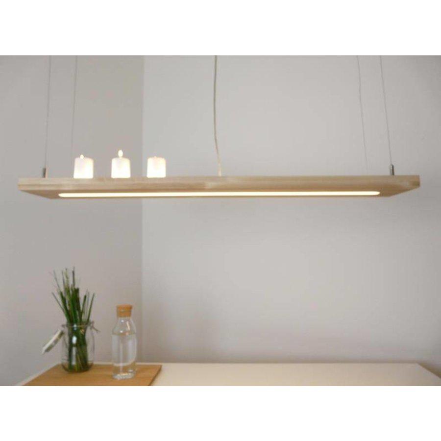 Hängelampe Holz Buche 80 cm Ober Unterlicht-5