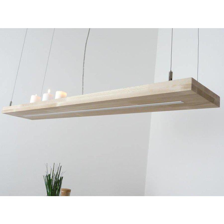 Hängelampe Holz Buche 80 cm Ober Unterlicht-6