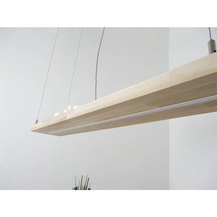 Hängelampe Holz Buche 80 cm Ober Unterlicht-7