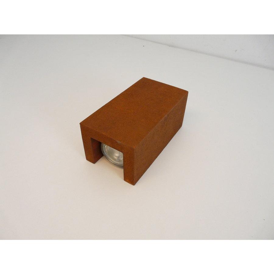 Wandleuchte Holz Rostfarben-3