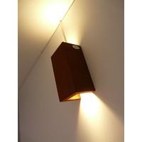 thumb-Wandleuchte Holz Rostfarben-6