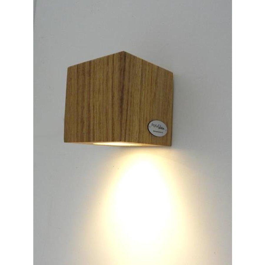 Led Wandleuchte Miny Spot Beton Holz beschichtet-9