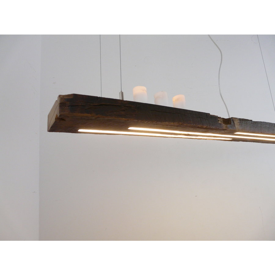 rustikale LED Lampe Hängeleuchte antik Balken-2