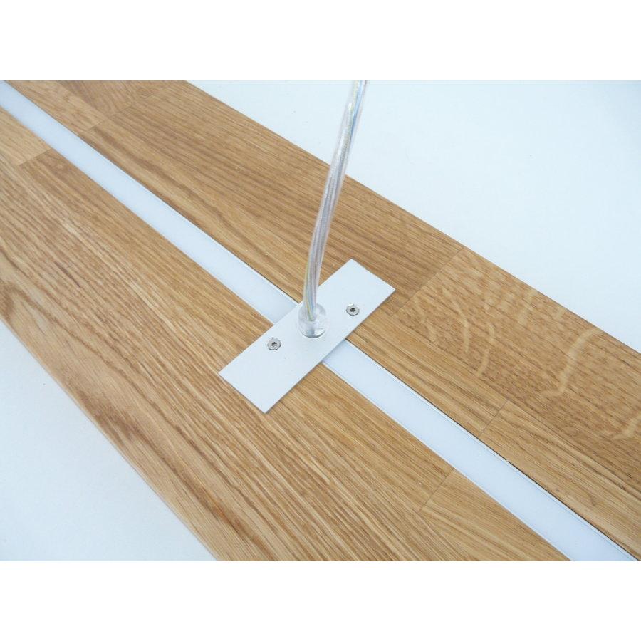 Hängelampe Holz Eiche geölt mit Ober und Unterlicht-10