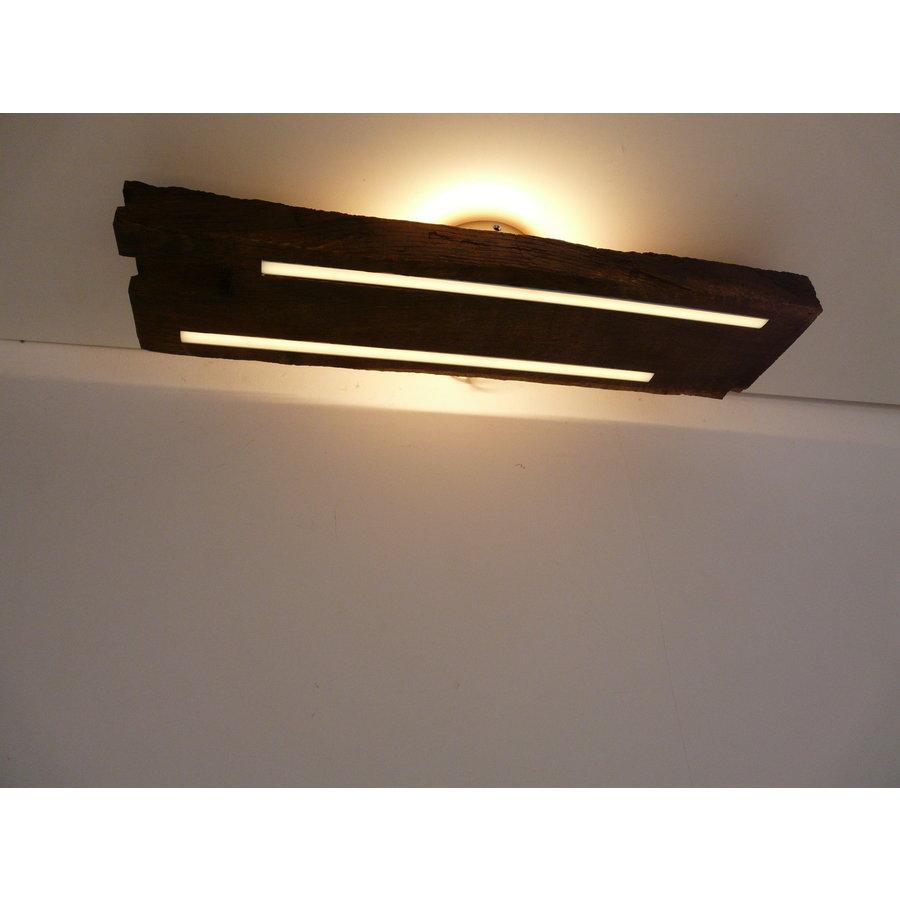 Deckenleuchte Antikholz mit indirekter Beleuchtung-3