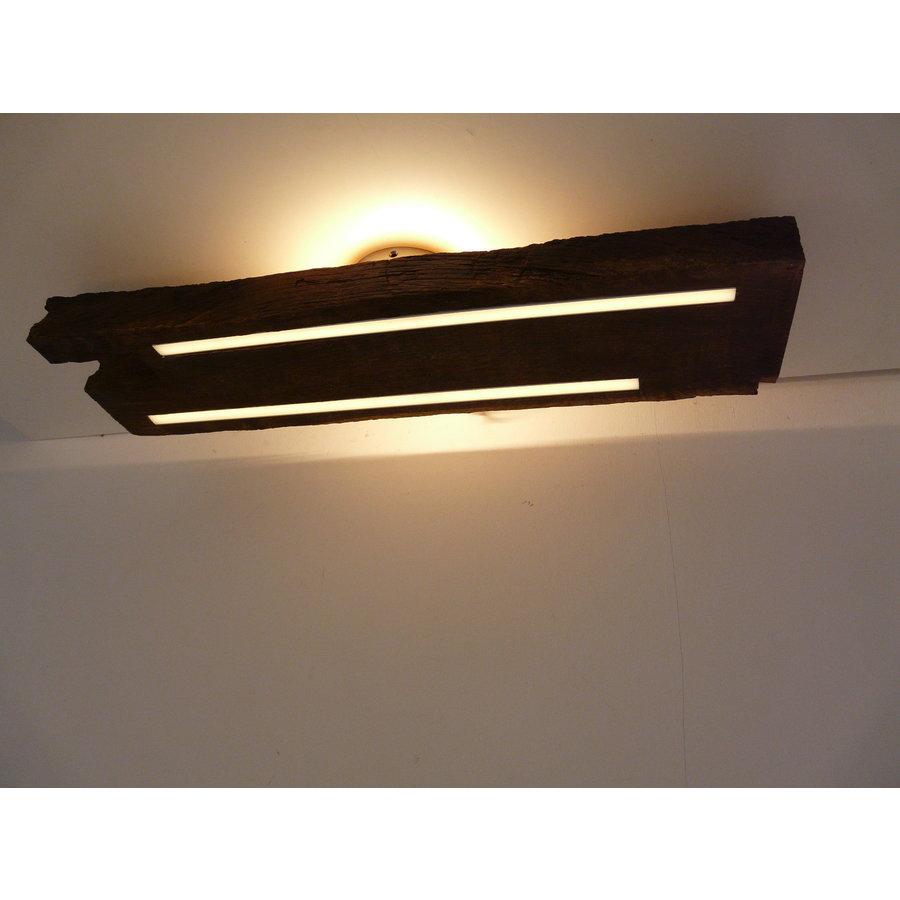 Deckenleuchte Antikholz mit indirekter Beleuchtung-4