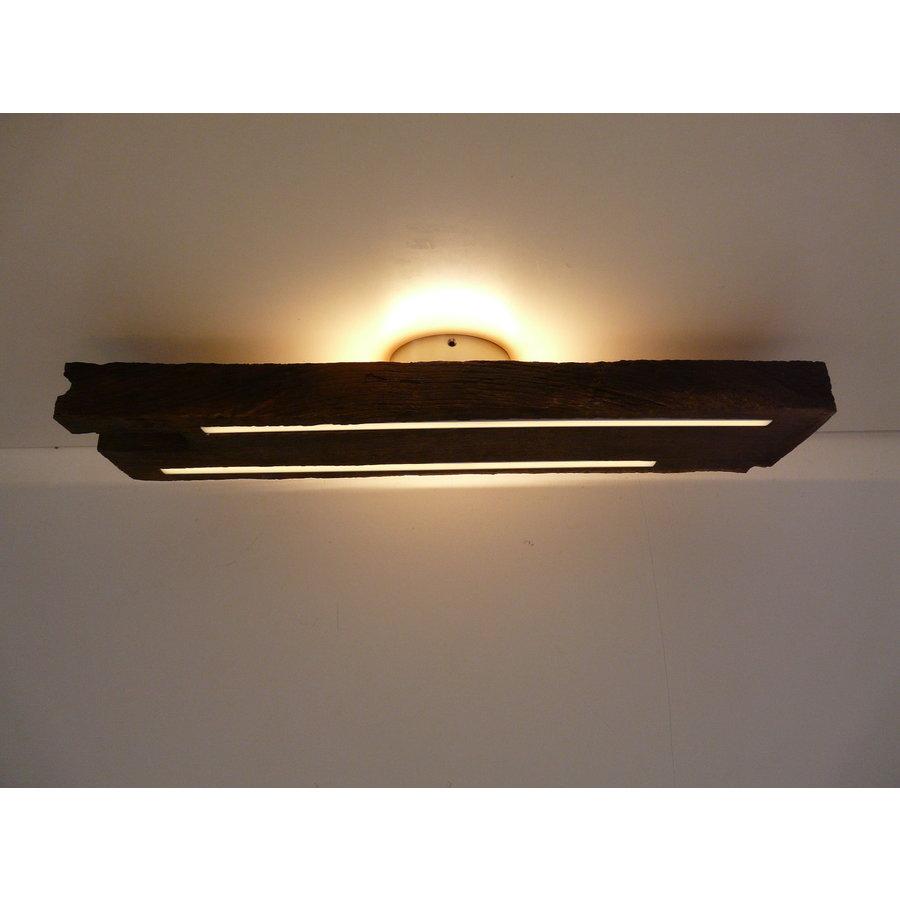 Deckenleuchte Antikholz mit indirekter Beleuchtung-5