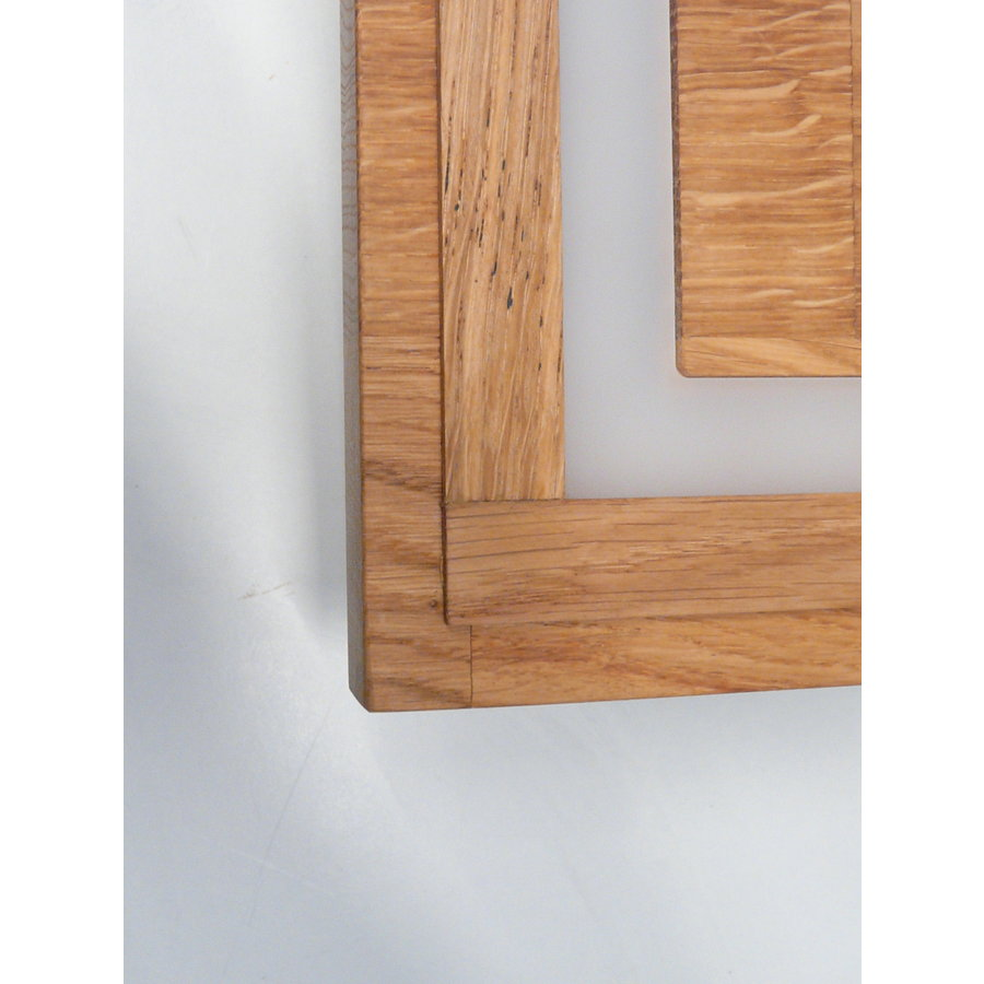 LED Deckenleuchte Holz Eiche geölt  39 cm x 39 cm-5