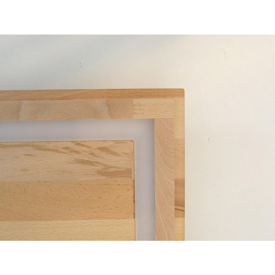 LED Deckenleuchte Holz Buche  20 x 20 cm   mit indirektem Licht-10