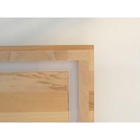 thumb-LED Deckenleuchte Holz Buche  30 x 30 cm   mit indirektem Licht-9
