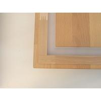 thumb-LED Deckenleuchte Holz Buche  39 x 39 cm   mit indirektem Licht-10